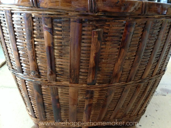 stain an old basket