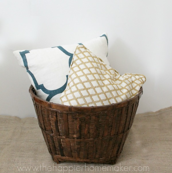 stained thrifted basket