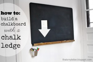 How to: Build a Wall Chalkboard with a Chalk Ledge