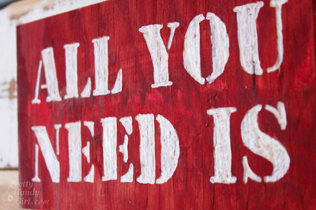 All You Need is...Valentine String Art   Pretty Handy Girl