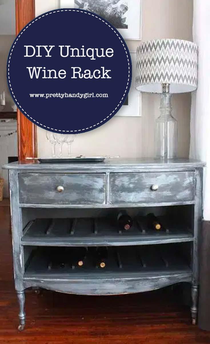DIY Unique Wine Rack | Pretty Handy Girl