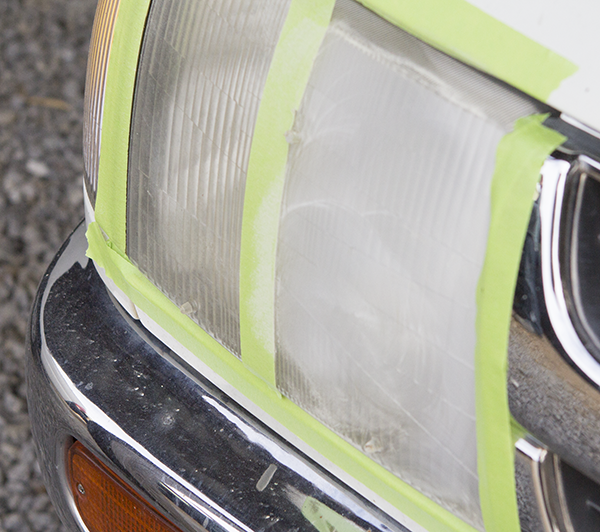 Sanded Headlight