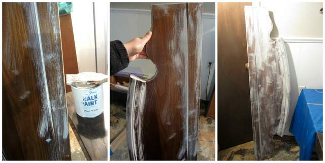 White Chalk Paint on Sign