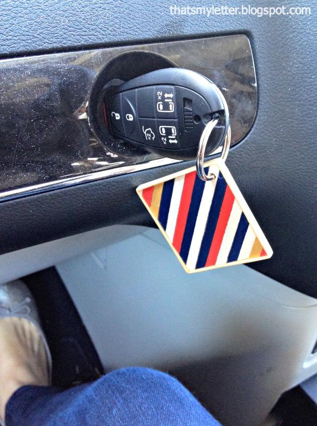 coffee stirrer keychain car