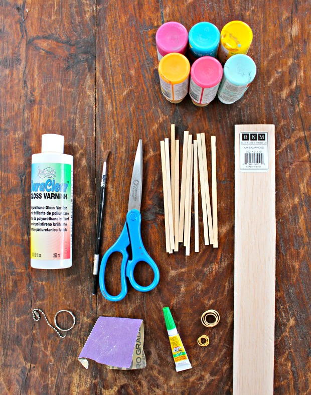 coffee stirrer keychain supplies