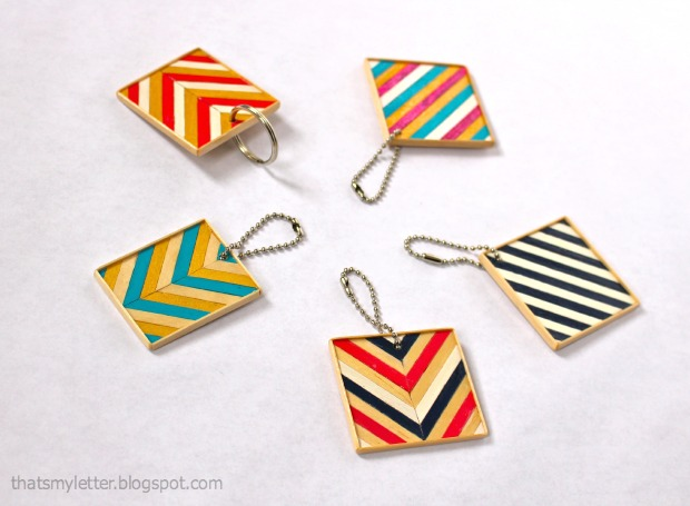 coffee stirrer keychains 1