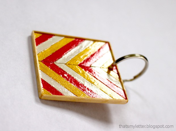 coffee stirrer keychains 3