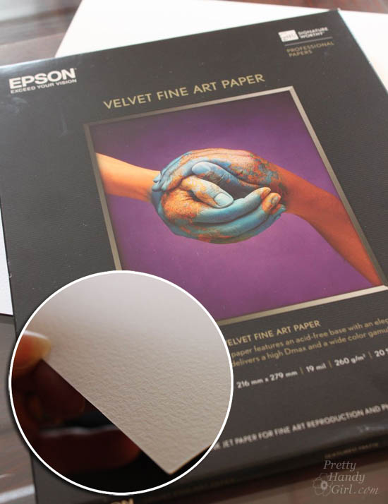 Epson Velvet Fine Art Paper | Pretty Handy Girl