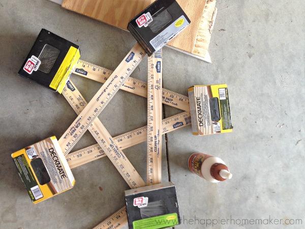 diy tutorial wood star