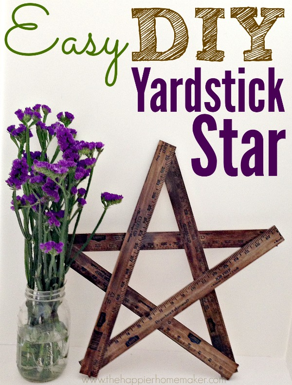 easy diy yardstick star