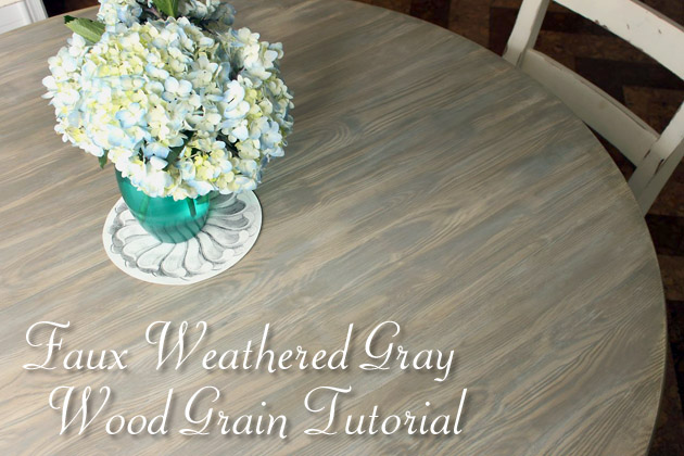 Faux Weathered Gray Wood Grain Tutorial | Pretty Handy Girl