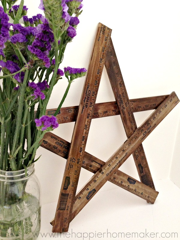 easy diy yard stick star