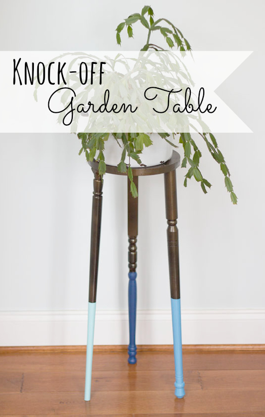 Knock off Partridge Garden Table Tutorial