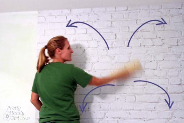 Installling Brick Mural Wallpaper | Pretty Handy Girl