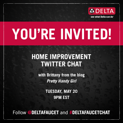 Delta Faucet Chat #DeltaFaucetChat Tues. May 20th at 9pm EST