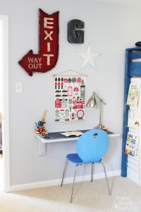 Wall-Mounted Desk Tutorial | Pretty Handy Girl