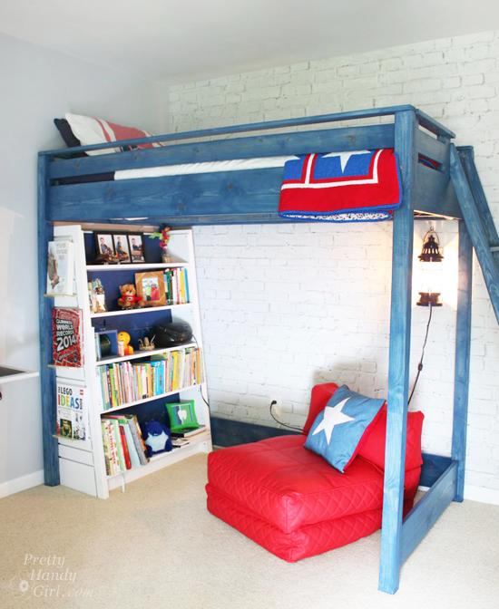 Boy's Red, White & Blue Themed Room | Pretty Handy Girl