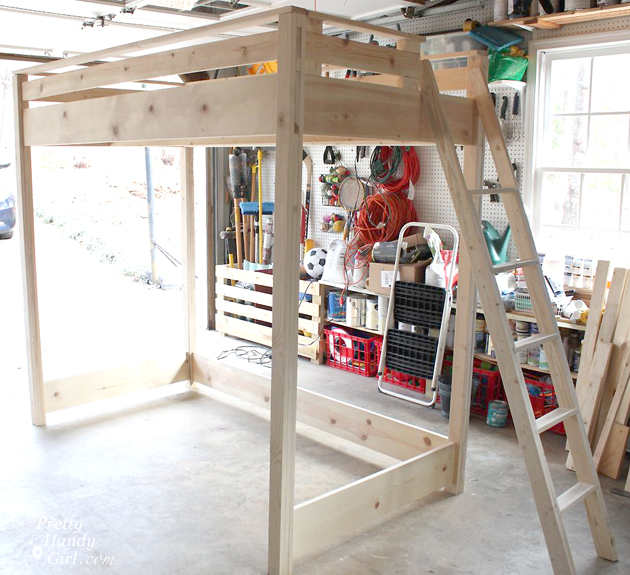 DIY Loft Bed | Pretty Handy Girl