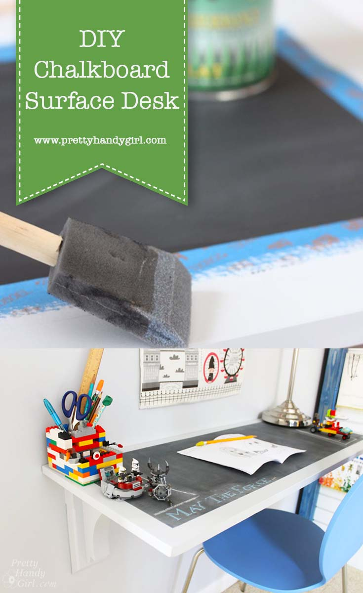 How to Make a Chalkboard Surface Desk
