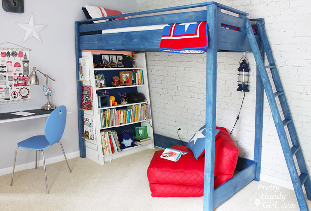 Elegant DIY Loft Bed Pretty Handy Girl