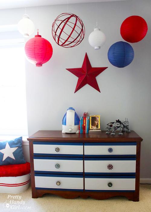 Hanging Ceiling Art   Spheres & Lanterns   Pretty Handy Girl
