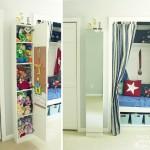 Wall-mounted IKEA LILLÅNGEN Mirrored Cabinet turned Stuffed Animal Storage   Pretty Handy Girl