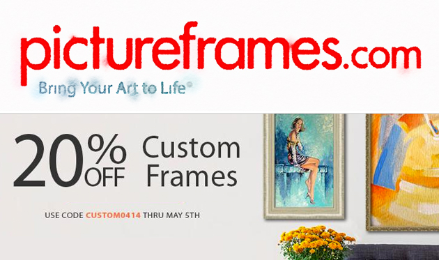 PictureFrames.com 20 percent discount
