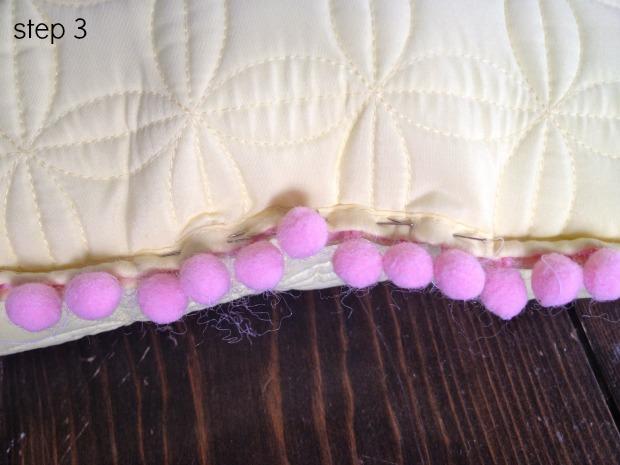 pom pom pillows step 3