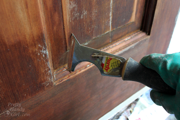 Perfect How To Strip Paint Off A Door | Pretty Handy Girl