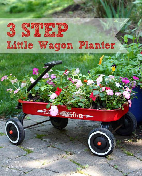 3 Step Wagon Planter Tutorial | Pretty Handy Girl
