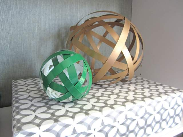 DIY Orbs from Metal Flashing