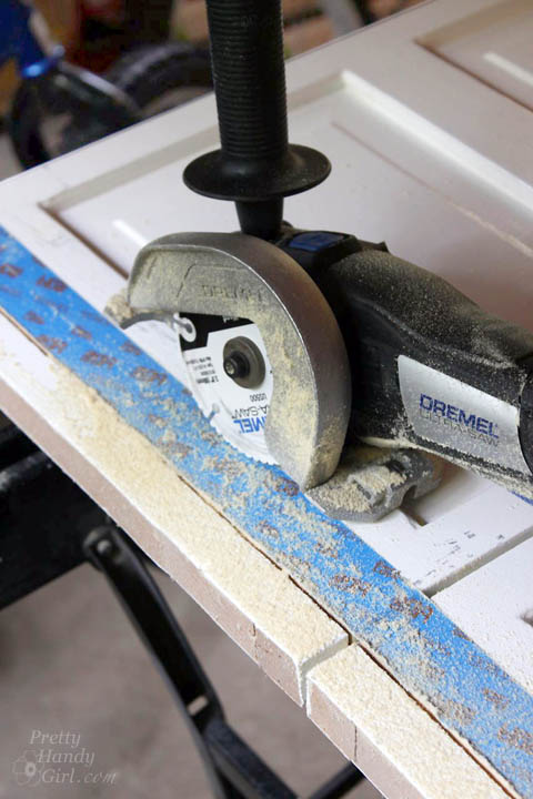 How to Trim Closet Doors with Dremel UltraSaw | Pretty Handy Girl