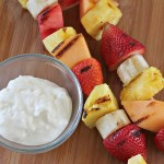 Grilled Fruit Kabobs with Coconut Honey Dip