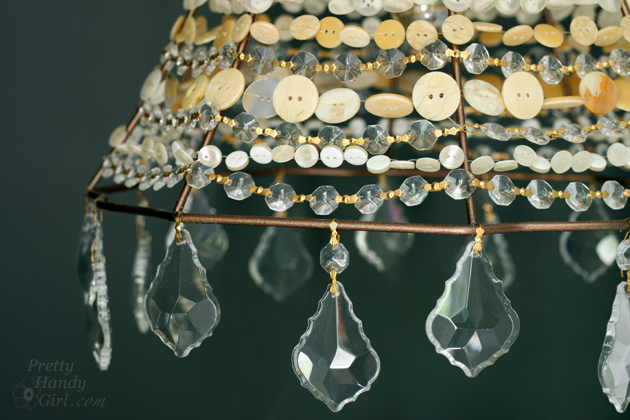 DIY Button Pendant Light | Pretty Handy Girl