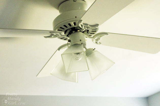 5 Minute Ceiling Fan upgrade | Pretty Handy Girl