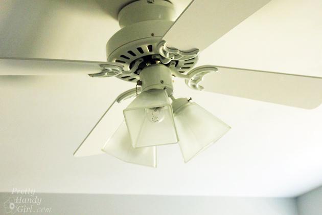 5 Minute Ceiling Fan upgrade | Pretty Handy Girl