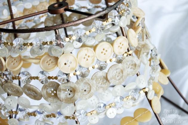 DIY Button Pendant Light   Pretty Handy Girl