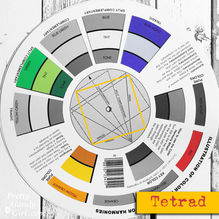 Tetrad Color Hamonies Split Compliment Color Palette | Pretty Handy Girl