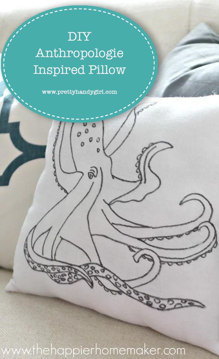 DIY Anthropologie Inspired Pillow