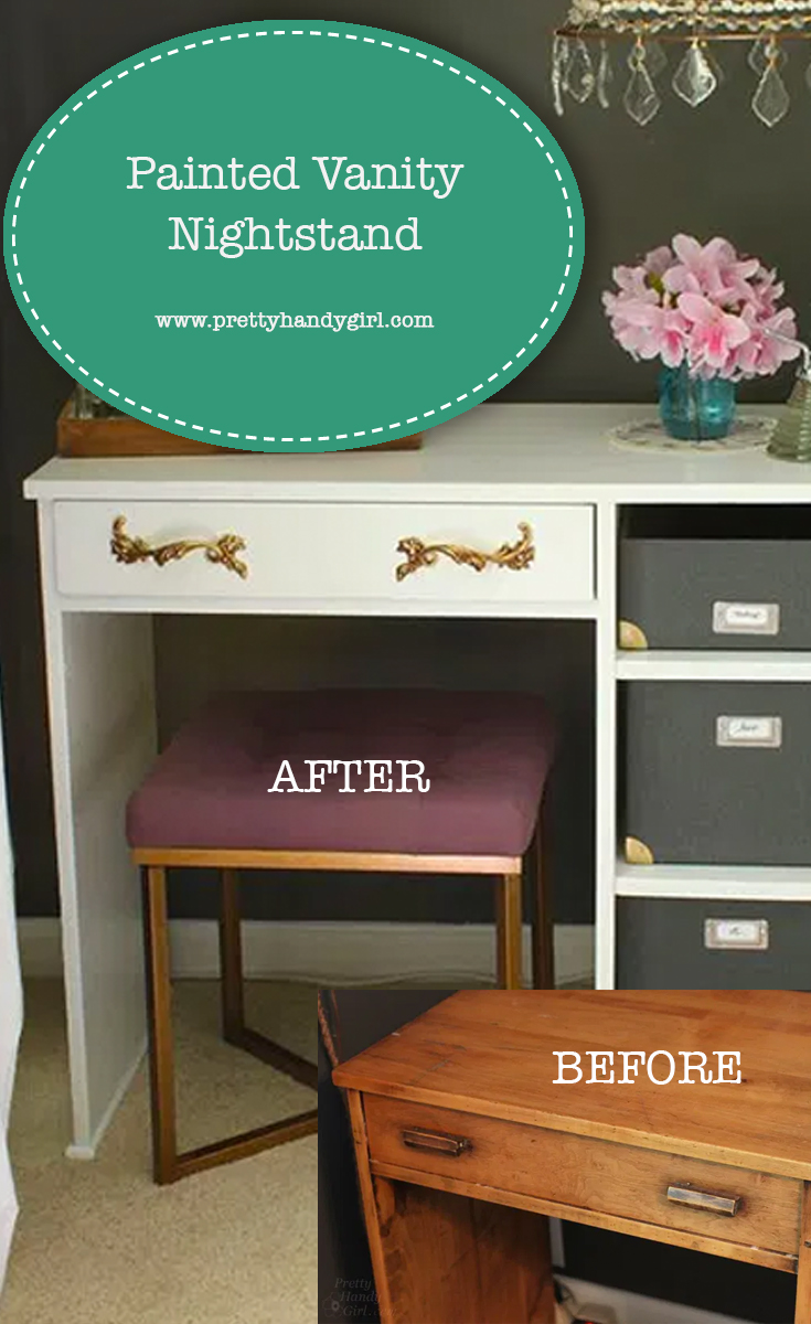 Painted Vanity Nightstand | Pretty Handy Girl