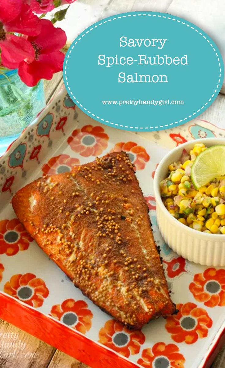Savory Spice Rubbed Salmon | Pretty Handy Girl