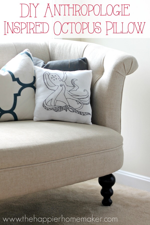 diy anthropologie inspired octopus pillow