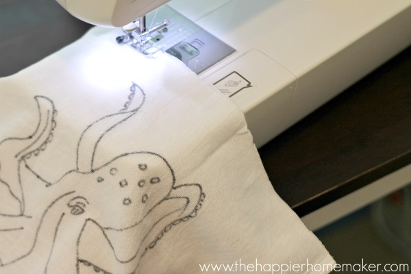 sewing anthro knock off pillow