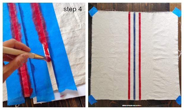 striped euro shams step 4