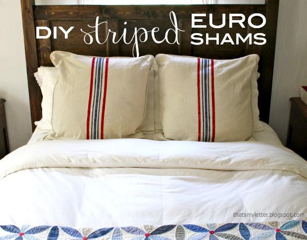 striped euro shams