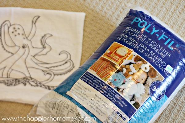 tutorial octopus pillow anthropologie
