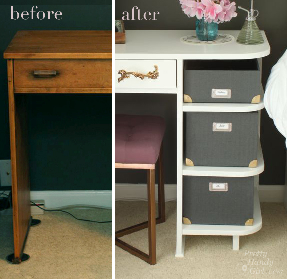 Painted Bedside Vanity | Pretty Handy Girl