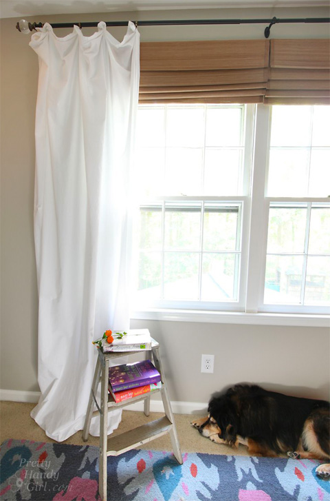Easy and Inexpensive Romantic Curtains - Pretty Handy Girl