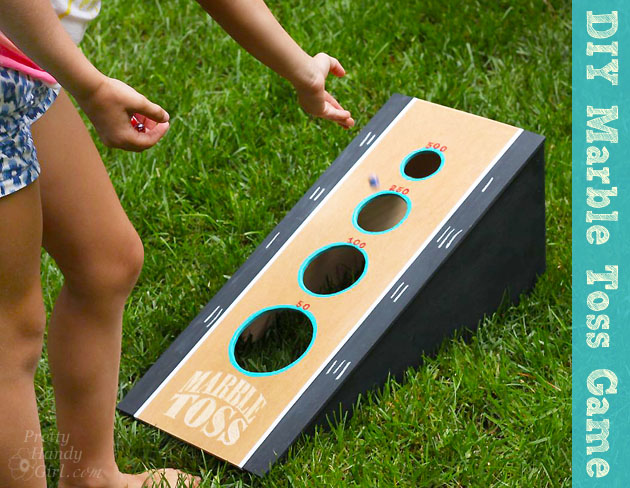 DIY Marble Toss Game | Pretty Handy Girl