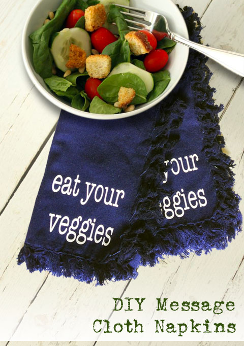 DIY Message Cloth Napkin Gift Idea
